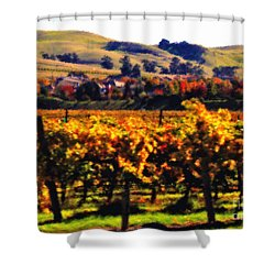 Autumn In The Valley 2 - Digital Painting Shower Curtain by Carol Groenen