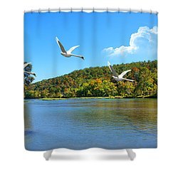 Autumn Landing Shower Curtain by Rick Friedle