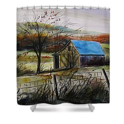 Shower Curtain featuring the painting Autumn Light By John Williams by John Williams