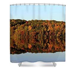 Shower Curtain featuring the photograph Autumn Mirror by Rachel Cohen