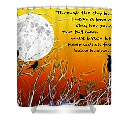 Autumn Moon Shower Curtain by Methune Hively