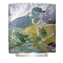 Autumn Mountains Shower Curtain