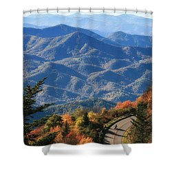 Autumn On The Blue Ridge Parkway Shower Curtain by Lynne Jenkins