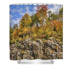 Autumn On The Rocks Shower Curtain by Jo-Anne Gazo-McKim