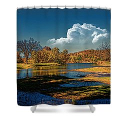 Autumn On The South Fork Shower Curtain by Rick Friedle