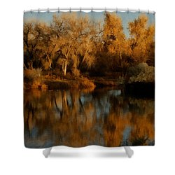 Autumn Reflections Painterly Shower Curtain by Ernie Echols