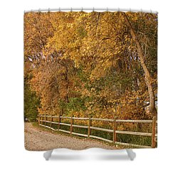 Autumn  Road To The Ranch Shower Curtain by James BO  Insogna
