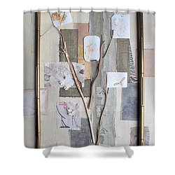 Shower Curtain featuring the mixed media Autumn by Sandy McIntire