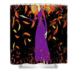 Shower Curtain featuring the digital art Autumn Spirit by Barbara Moignard