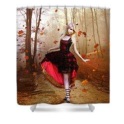 Autumn Waltz Shower Curtain by Mary Hood
