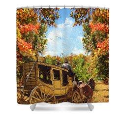 Autumn's Essence Shower Curtain by Lourry Legarde