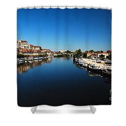 Auxerre France Shower Curtain by Hannes Cmarits