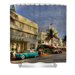 Avalon Hotel Shower Curtain by Sean Allen