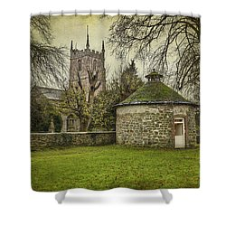 Shower Curtain featuring the photograph Avebury Dovecote 16th Century by Clare Bambers