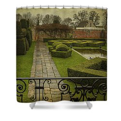 Shower Curtain featuring the photograph Avebury Manor Topiary by Clare Bambers