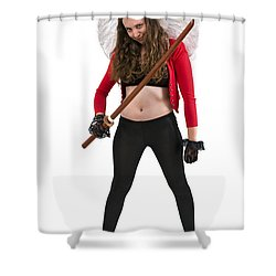 Avenging Angle With A Sword  Shower Curtain by Ilan Rosen