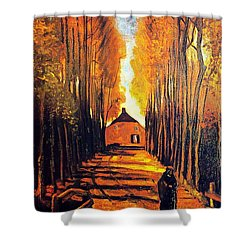 Avenue At Poplars Shower Curtain by Sumit Mehndiratta