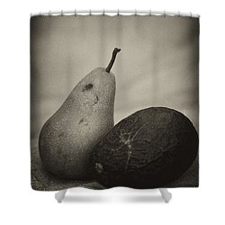 Shower Curtain featuring the photograph Avocado And Pear by Hugh Smith