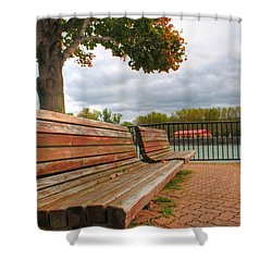 Shower Curtain featuring the photograph Awaiting by Michael Frank Jr
