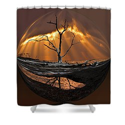 Awakening Shower Curtain by Debra and Dave Vanderlaan