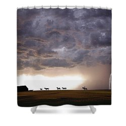 Awesome Storm Shower Curtain by Bill Stephens