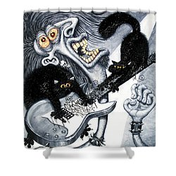 Axe And Violence Shower Curtain by Baron Dixon