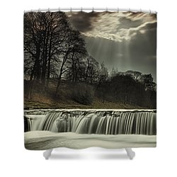 Aysgarth Falls Yorkshire England Shower Curtain by John Short