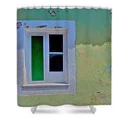 Azores Window Shower Curtain by Eric Tressler