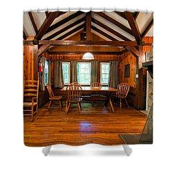 Babcock Cabin Interior 2 Shower Curtain by Steve Harrington