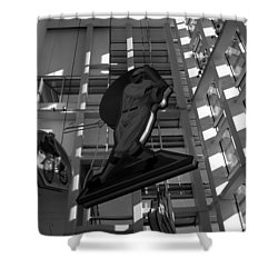 Babes Big Hit Shower Curtain by David Lee Thompson
