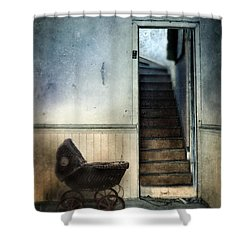 Baby Buggy In Abandoned House Shower Curtain by Jill Battaglia