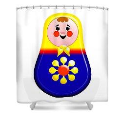 Baby Matrioshka Doll  Shower Curtain by Zaira Dzhaubaeva