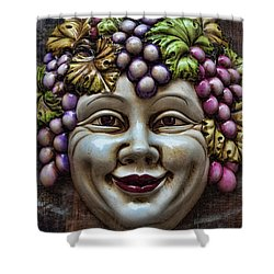 Bacchus God Of Wine Shower Curtain by David Smith
