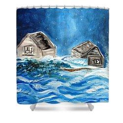 Back Cover Shower Curtain by Carol Allen Anfinsen