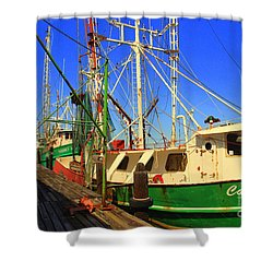Back In The Harbor Shower Curtain by Susanne Van Hulst