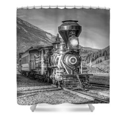 Back In Time Shower Curtain by Ken Smith