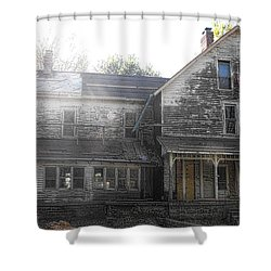 Back Of 1860's Mansion Shower Curtain by Kristie  Bonnewell