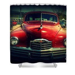 Back To The Future Packard Shower Curtain by Susanne Van Hulst