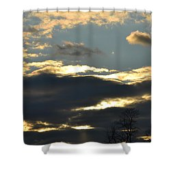 Backlit Clouds Shower Curtain
