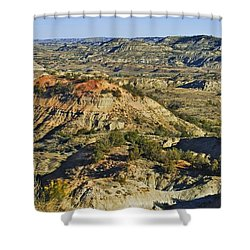 Bad Lands  Shower Curtain by Michael Peychich