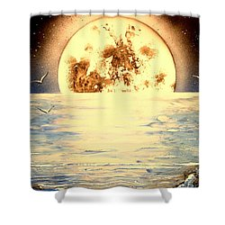 Bad Moon Rising Shower Curtain by Greg Moores