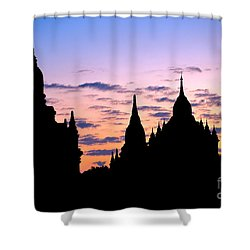 Shower Curtain featuring the photograph Bagan by Luciano Mortula