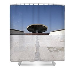 Baghdad, Iraq - The Ramp That Leads Shower Curtain by Terry Moore