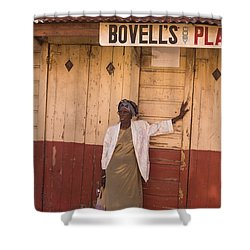 Bajan Lady Of Barbados Shower Curtain by Rene Triay Photography
