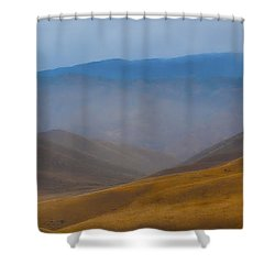 Shower Curtain featuring the photograph Bakersfield Horizon by Hugh Smith