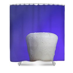 Baking Soda Reacting With Vinegar Shower Curtain by Photo Researchers, Inc.