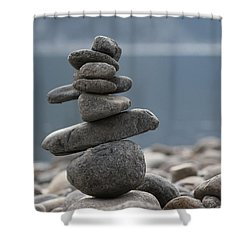 Balance Shower Curtain by Cathie Douglas