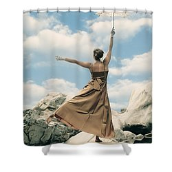 Balance Shower Curtain by Joana Kruse