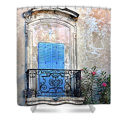 Shower Curtain featuring the photograph Balcony Provence France by Dave Mills