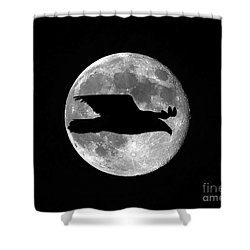 Bald Eagle Moon Shower Curtain by Al Powell Photography USA